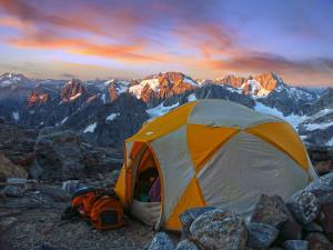 Morning light at Sahale Glacier Camp