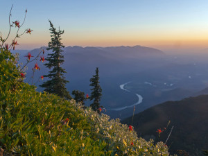 Skagit Valley from Sauk Mountain at Sunset