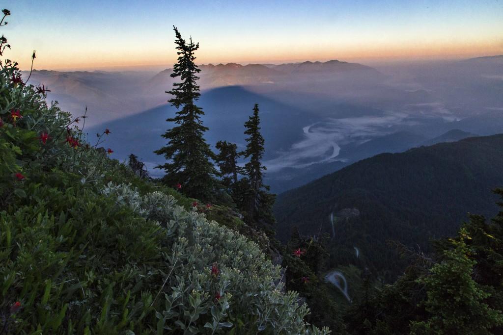 Skagit Valley from Sauk Mountain at Sunrise