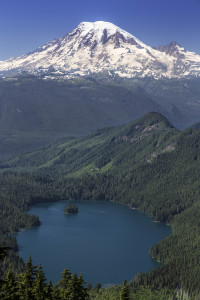 Mount Rainier and Packwood lake