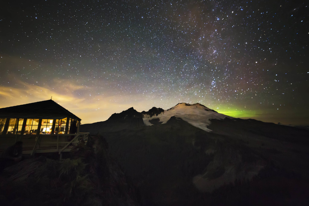 Mt Baker and Aurora glow