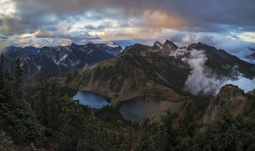 Twin Lakes Panorama