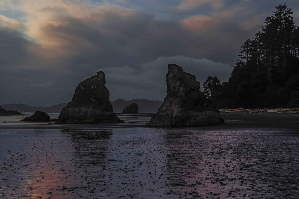 Sunset at Ruby Beach, Olympic National Park