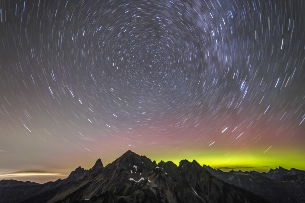 Mt Larabee and the Northern Lights